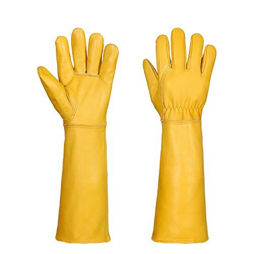 Gardening Gloves for Women/Men Rose Pruning Thorn Cut Proof (XL, Y)