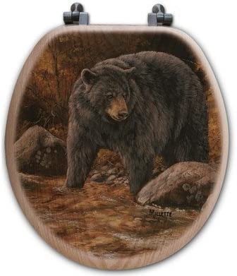 WGI-GALLERY TS-R-SSB Streamside Bear Seat Oak Toilet Max depot 87% OFF