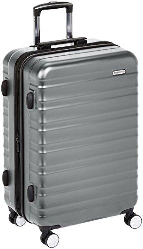Amazon Basics - Trolley rigido Premium con rotelle pivotanti e lucchetto TSA integrato - 78 cm, Grigio