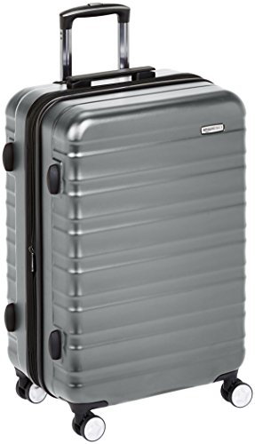 Amazon Basics Premium Hardside Spinner Luggage with Built-In TSA Lock - 30-Inch, Grey