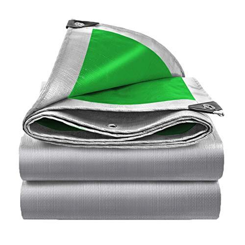 Multi-propósito Plata Impermeable Lona Cubrir,Ideal Para Lona Alquitranada Canopy Tent Boat Resistente A Los Rayos UV O Cubierta De La Piscina Cubierta Al Aire Libre Y Protección-Plata 12x12 pies