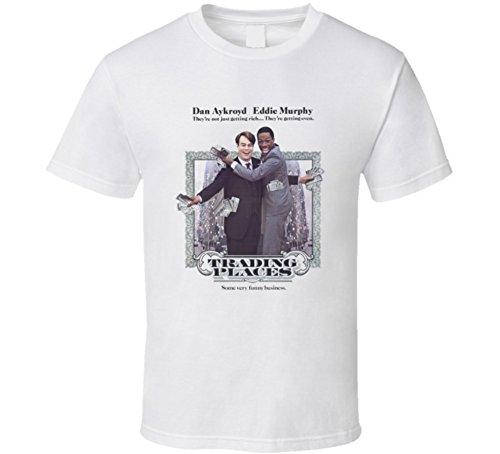 Trading Places Eddie Murphy Funny Retro 80's Movie T Shirt XL White