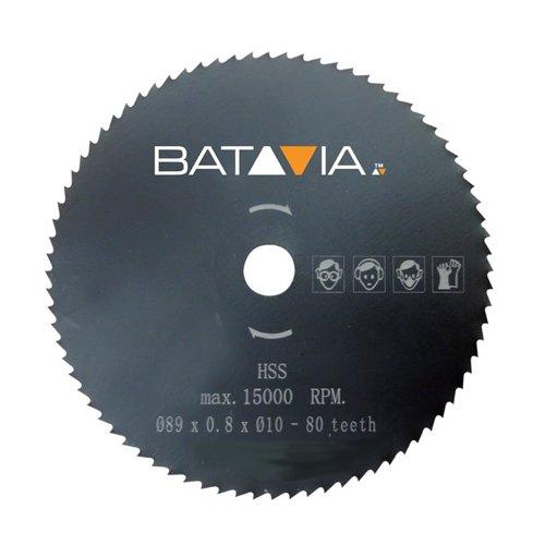 Batavia 7061240 HSS Sägeblatt 80T ∅89mm, Mehrfarbig