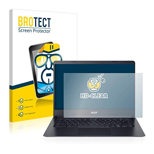 BROTECT Schutzfolie kompatibel mit Acer Chromebook 314 klare Bildschirmschutz-Folie