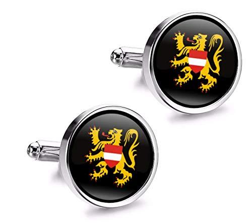 Manchetknopen hemd Magglass vlaggen België Flemish Brabant
