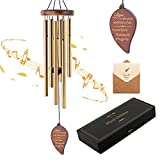 Premium Memorial Wind Chime: This wooden wind chime is made of high-quality pine wood, which is durable, waterproof and wear-resistant. The attached 6 anodized aluminum tubes are corrosion-resistant and thickened. It makes people feel peaceful with a...