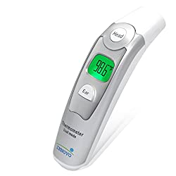 Innovo Medical Forehead and Ear Thermometer, Fever Detection for Adults and Children