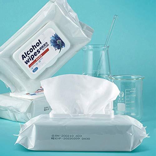 FANPING Antibakteriell 75% Alkoholtupfer for Hand, Tel.-Bildschirm, Wunde, Packung mit 50 Stück, Antiseptikum und Einweghandalkoholtupfer for Reinigung Bakterien und Schadstoffe, Sanitär Antibakteriel - 6