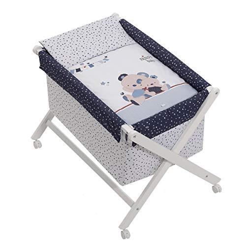 Mini berceau Friends Baby Bleu avec Textile