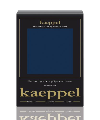 Kaeppel Spannbettlaken, Jersey, Blau, 100 cm x 200 cm, 6