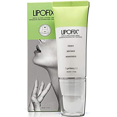 Neck Firming Double Chin Tightening Intensive Rejuvenating Cream Tones and Firms Sagging Skin Anti-Aging. LIPOFIX…