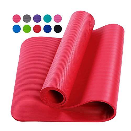 Esterilla de Yoga Gruesa de 10 mm Antideslizante Alfombrilla de Ejercicio Estera de Yoga...