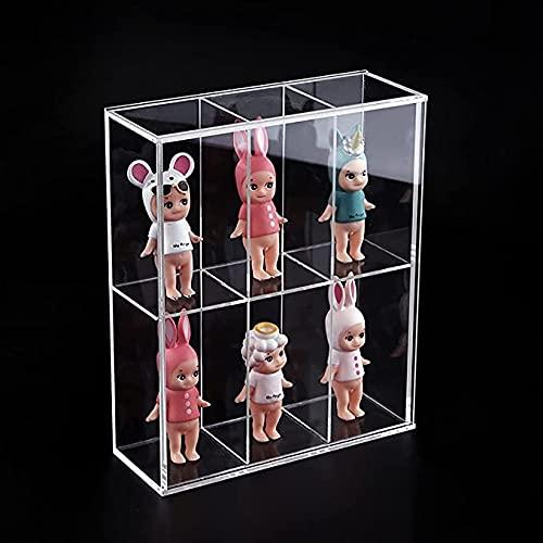 Damian-Sewing Expositor De Acrílico Transparente A Prueba De Polvo Modelo Base De Juguete Caja De Exhibición De Figuras De Acción Coleccionables Encimera Box