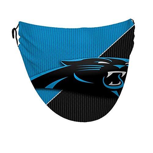 Wodann Carolina Panthers (27) Funda bucal para hombres y mujeres, ajustable, lavable, a prueba de polvo, resistente al viento, transpirable, para adultos