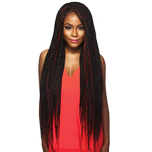 """MULTI PACK DEALS! Outre Synthetic Hair Braids X-Pression Kanekalon 3X Pre Stretched Braid 52"""" (5-PACK, 2T1B/BU)"""
