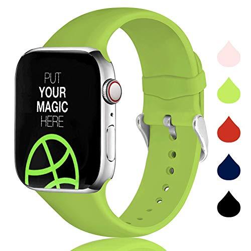 Sichen Cinturino Compatibile con Watch Serie 6/5/4/3/2/1, Cinturino di Ricambio Sportivo in Silicone Morbido per Apple Watch 44mm 42mm 40mm 38mm
