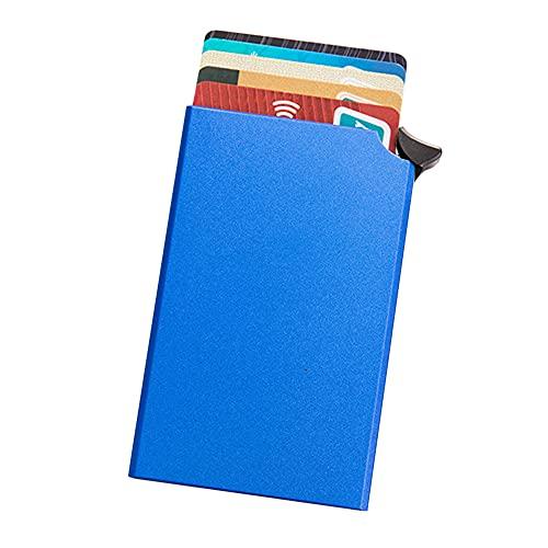 Titular de la tarjeta Antirrobo Caja de almacenamiento automática de tarjetas de identificación Cartera de tarjeta de crédito de aleación de aluminio unisex para viajes Viajes de negocios