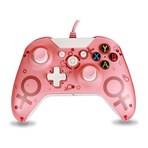Wired Controller Xbox One Gamepad per Giochi USB Cablato Joypad Joystick di Gioco Microsoft Windows 7 8 10 Joystick per Xbox One Xbox One X Xbox One S (Pink)