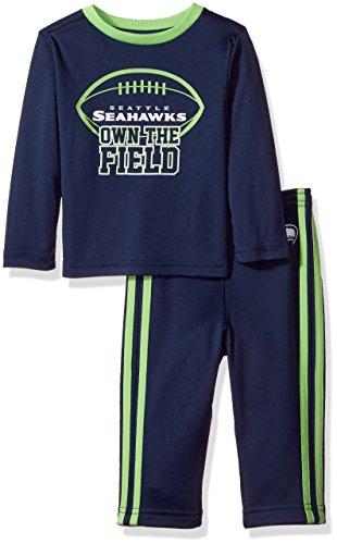 NFL Seattle Seahawks Unisex-Baby Short-Sleeve Tee & Pant Set, Seahawks, 24 Months