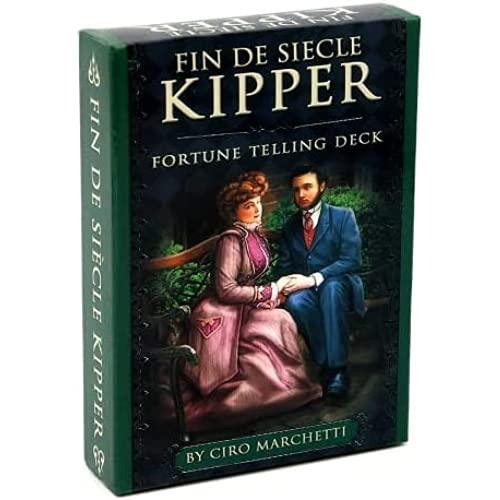 Tarot Fin de Siècle Kipper, la versión en inglés del adivino juego de mesa de cartas del oráculo de la baraja del destino, adecuado para juegos de amigos y familiares