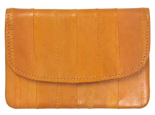 Becksöndergaard Damen Kleingeld Geldbörsen Handy Gelb - Handlich klein für Geld & Karten - Weich & strapazierfähig aus weichem Leder - Carot - 100002-642