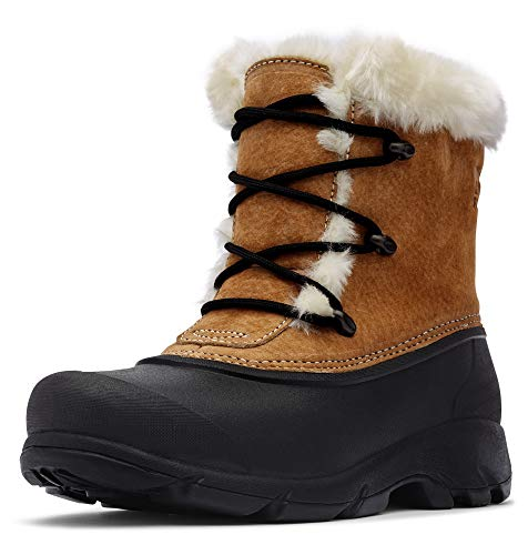 Sorel - Women's Snow Angel Waterproof Insulated Boot with Faux Fur Cuff, Rootbeer, 7 M US