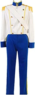 The Little Mermaid 1989 Prince Eric Cosplay Costume Uniform Outfit Wedding Suit Halloween Costumes for Men