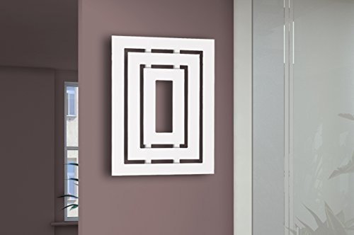 Badheizkörper Design Insight 1, HxB: 80 x 60 cm, 612 Watt, weiß (Marke: Szagato) Made in Germany/Bad und Wohnraum-Heizkörper (Mittelanschluss/Seitenanschluss)