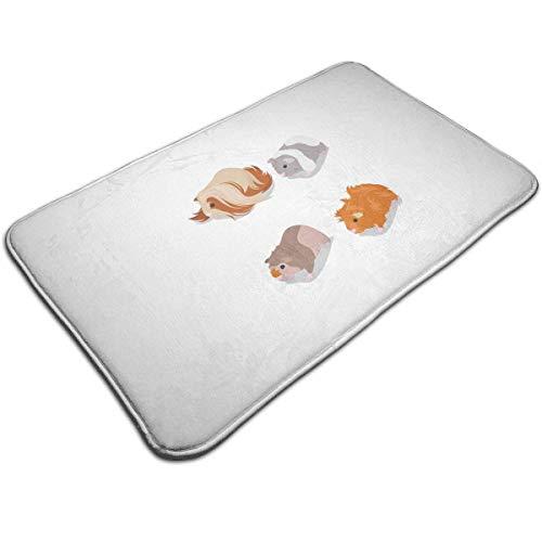 N/A Big Mouse Print deurmat badmat ingangmat vloermat tapijt binnen- / buiten-/badkamermatten rubber antislip