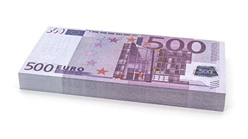 Cashbricks 100 x €500 Euro Spielgeld Scheine - verkleinert - 75% Größe