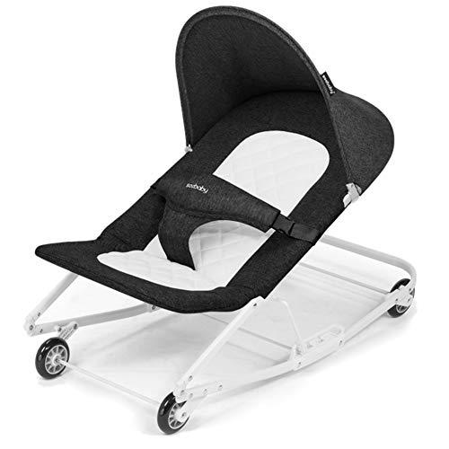 GOUO@ Kleinkind Rocker Baby Türsteher Gleichgewicht Baby-Schaukelstuhl-Shake Baby-Comforting Lehnstuhl Shaker Kinder Wiege Bett Mit Rollen