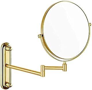 Asdfnfa Makeup Mirror Wallmounted Beauty Mirror Cosmetic Mirror Bathroom Vanity Mirror (Size : Diameter 20cm)