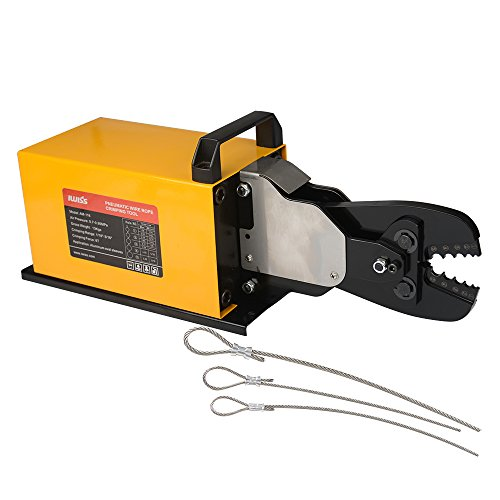 IWISS Wire Rope Pneumatic Crimping Machine for Aluminum Oval Sleeves and Stop Sleeves Wire Rope Crimp Ferrules from 1/16-inch to 3/16-inch