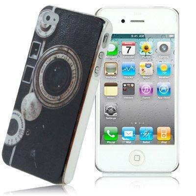 Unbekannt Hardcase/Hülle Apple iPhone 4S / 4 Kamera mit Objektiv Rangefinder Schutzhülle Case Back Cover Schale Vintage