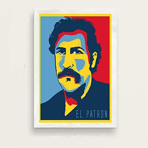 No frame Pablo Escobar Hot Beroemde Kunst Schilderij Zijde Canvas Poster Muur Home Decor 40x50cm