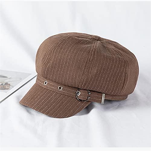 Fuxwlgs Berets Women Summer Thin Newsboy Cap Painter Adjustable Rope Beret (Color : Khaki, Hat Size : One Size)