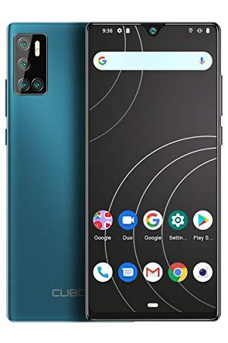 CUBOT P40 Smartphone ohne Vertrag, Handy 4GB RAM/128GB, 6.2 Zoll Bildschirm, 4200mAh Akku, Android 10, Vier Kamera, 256GB Erweiterbar, 4G Dual SIM, Grün
