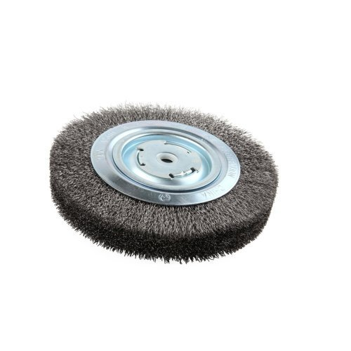 Lincoln Electric KH322 Crimped Wire Wheel Brush, 4000 rpm, 8' Diameter x 1-1/4' Face Width, 5/8' x 1/2' Arbor (Pack of 1)