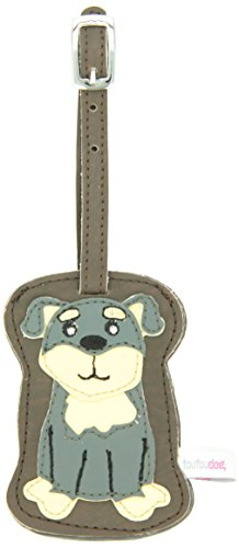 Breed specific dog-shaped luggage tag