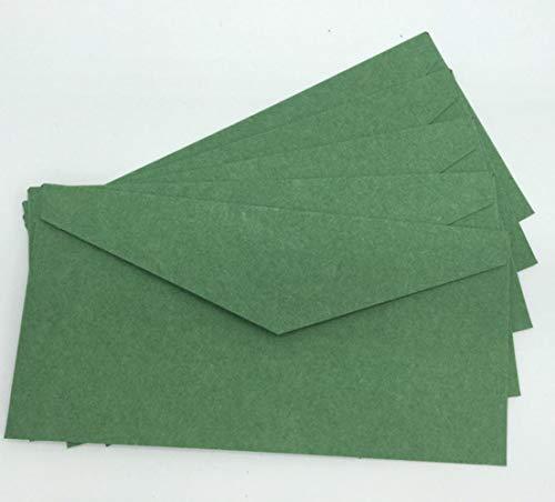 Piero 30 PCS blanco kartonnen geschenkzak Envelop Kerstkaart Huwelijksuitnodiging Versieren, groen