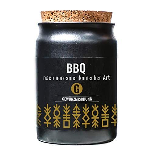 Greenomic BBQ nach nordamerikanischer Art 60 g Gewürzmischung im Tontopf mit Korkverschluss
