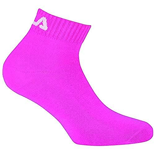 Fila F9300, Calcetín unisex, Pink, 39/42 (Pack de 3)