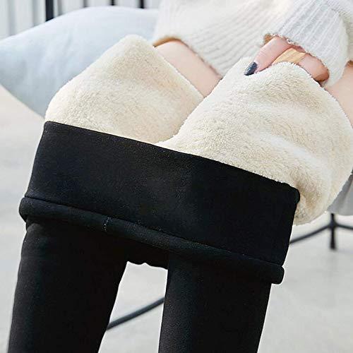 Damen Winter Super Dicke Leggings warme Samt Stretch-Leggings und Baumwollhosen mit Hoher Taille Gefütterte Hosen