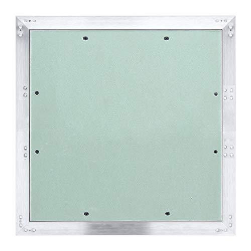 Hengda Revisionsklappe Aluminium-Rahmen 400 * 400mm mit 12.5 mm Gipskarton GK-Einlage ABS-Kunststoff mit Grün imprägniert für Feuchträume geeignet