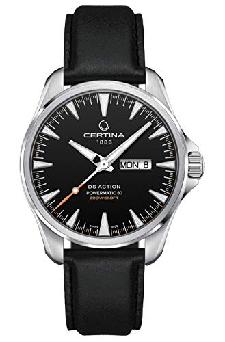 Certina DS Action Day-Date Reloj automático para hombre con esfera negra C032.430.16.051.00