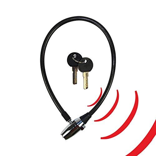 KH SECURITY 370184 Alarm-Kabelschloss compact, 300 g, 24.5 x 14 x 3 cm, schwarz