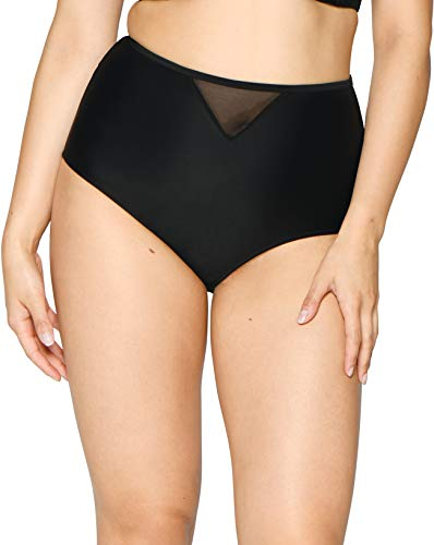 Curvy Kate Sheer Class Bikini-Slip, hohe Taille, Schwarz Gr. 44, Schwarz