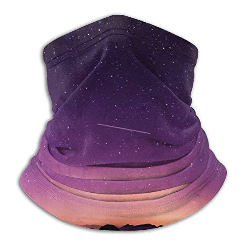 WlQshop Purple Sky Star Warmer Schal Schlauchschal Bandana Stirnband For Men Women Sun UV Wind Dust Protection Skiing Riding Running