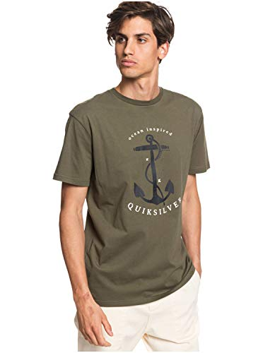 Quiksilver T-Shirt Uomo MOD. EQYZT05744 Verde M