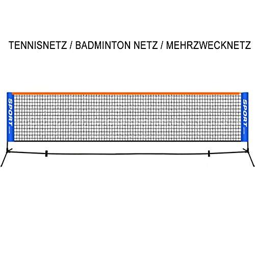 GYKLY 3-6m Einfaches kurzes tragbares faltbares Tennisnetz für Kinder Mobiler Tennisblock Badmintonnetz-5.1m